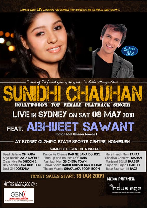 Sunidhi Chauhan at Sydney